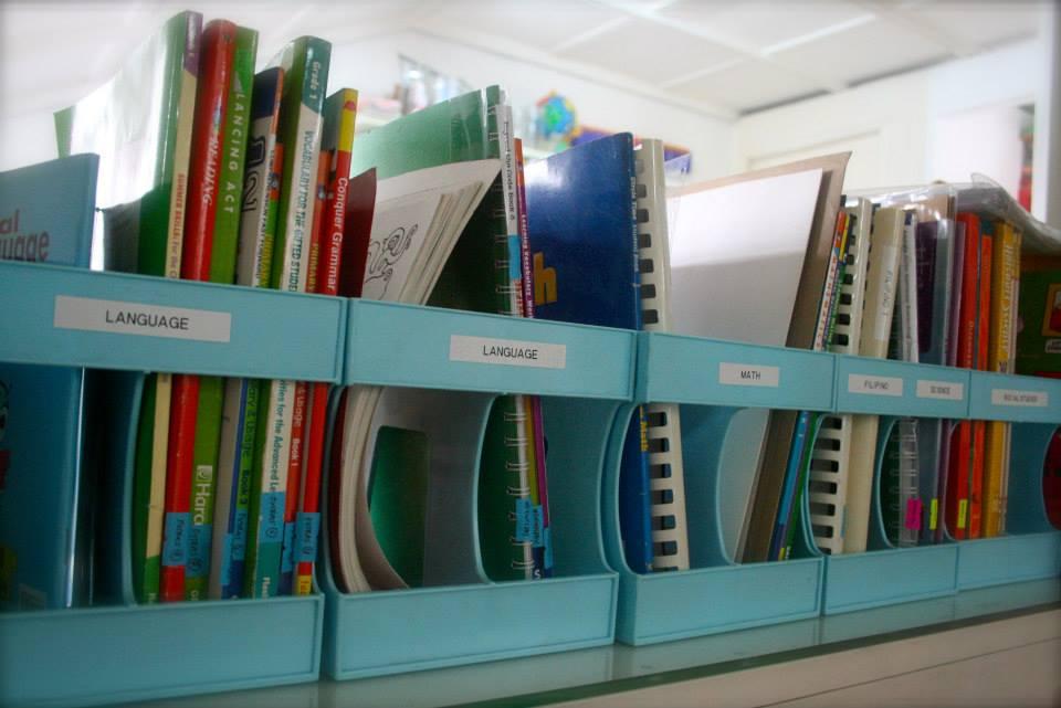 bookshelf organization and labelling